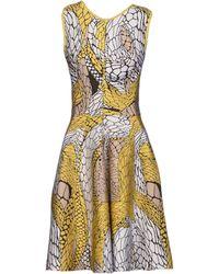 Issa Yellow Short Dress - Lyst