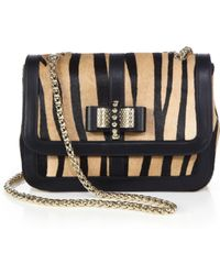 Christian Louboutin Sweety Charity Tigerpatterned Calf Hair Shoulder Bag - Lyst