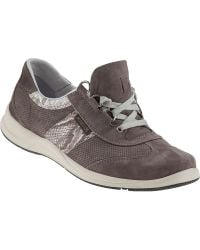 Mephisto Laser Sneakers Light Grey Suede - Lyst