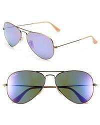 Ray-Ban Women'S 'Original Aviator' 58Mm Sunglasses - Bronze/ Grey Mirror Purple - Lyst