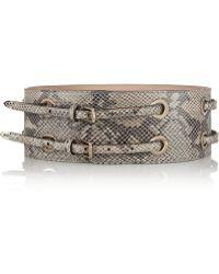 Jimmy Choo Snakeeffect Leather Waist Belt - Lyst
