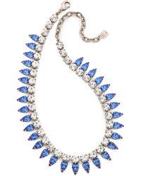 Dannijo Aspen Necklace  Silvercrystalsapphire - Lyst