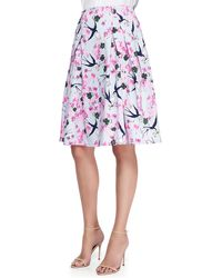 Carolina Herrera Love Letters Full Party Skirt - Lyst