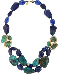 Alexis Bittar Mixed-Bead Layered Statement Necklace - Lyst