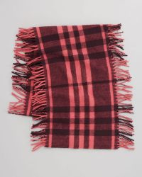 Burberry Happy Check Fringe Scarf - Lyst
