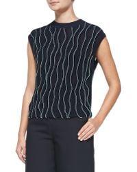 3.1 Phillip Lim Sleeveless Thread-wave Pullover Sweater - Lyst