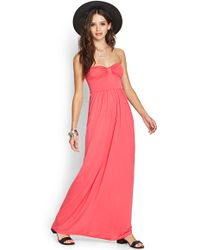 Forever 21 Strapless Maxi Dress - Lyst