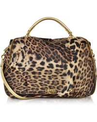 Class Roberto Cavalli Megan Animal Print Fabric Satchel - Lyst