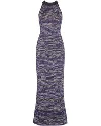 M Missoni Cutout Metallic Texturedknit Maxi Dress - Lyst