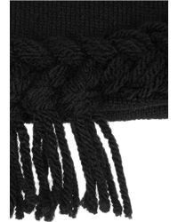 Anna Sui - + James Coviello Braid-trimmed Knitted Hat - Lyst