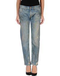 Nsf Clothing Blue Denim Pants - Lyst