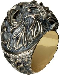 Queensbee - Gothic Lily Ring - Lyst