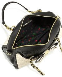 Betsey Johnson Colorblocked Quilted Heart Dome Satchel Bag - Lyst
