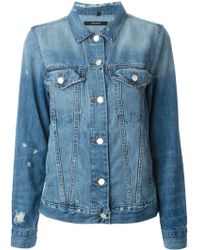 J Brand Distressed Denim Jacket - Lyst