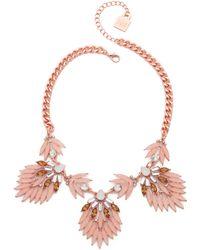 Adia Kibur - Petal Statement Necklace - Rose - Lyst