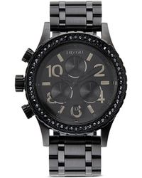 Nixon 38-20 'Chrono' Swarovski Crystal Watch - Lyst