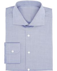 Uman Faint Herringbone Striped Dress Shirt - Lyst