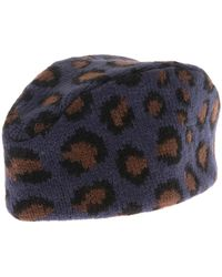 Tak.ori - Gstaad Piccolo Leopard Knit Fez Hat - Lyst