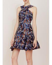 Kenzo Crisscross Printed Dress - Lyst