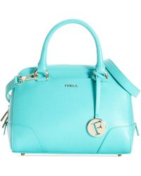 Furla Teal Dolly Satchel - Lyst