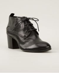 Costume National Laceup Bootie - Lyst