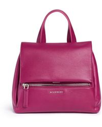 Givenchy 'Pandora Pure' Small Leather Flap Bag purple - Lyst