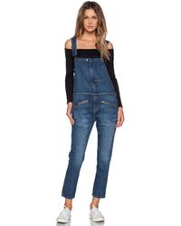 Current/Elliott The Zip Boyfriend Overall - Lyst