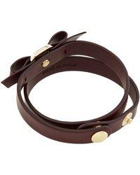 Ferragamo - Vara Bow Leather Bracelet - Lyst