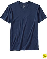 Banana Republic Factory Fitted V Neck Tee Celestial Blue - Lyst
