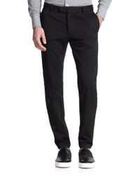 Band Of Outsiders Tapered Cotton Tuxedo Trousers - Lyst