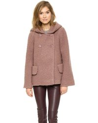 Jill Stuart Temple Wool Coat  Fawn - Lyst