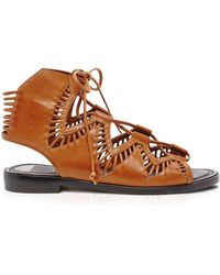 Dolce Vita Flat Ghillie Lace Up Sandals - Deklon Cutout - Lyst