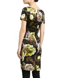 St. John Collection Tuscan Roseprint Silk Dress - Lyst