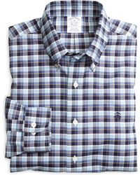 Brooks Brothers Noniron Slim Fit Check Sport - Lyst