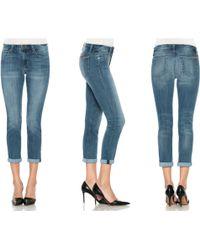 Joe's Jeans Rolled Skinny Crop - Lyst