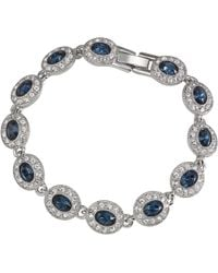 Carolee - Oval Crystal And Glass Stone Bracelet - Lyst