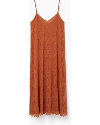 Mango | Guipure Midi Dress | Lyst