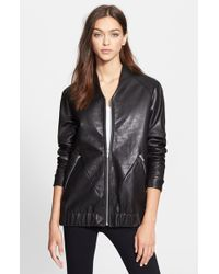 VEDA 'Theo' Oversize Leather Bomber Jacket - Lyst