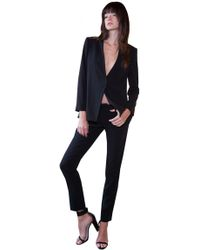 Alice + Olivia Caddy Cross Back Blazer black - Lyst