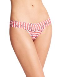 Hanky Panky Anchor Stripe Low-Rise Thong - Lyst