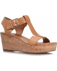 Carvela Known Mid Heel Wedge Sandals - Lyst