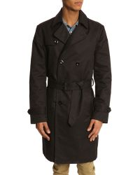 Diesel Nanda Black Trenchcoat - Lyst