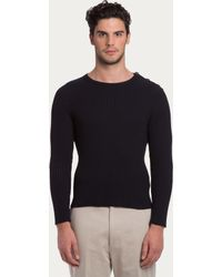 Bally Cotton And Silk Sweater - Lyst