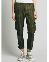 Free People Tuxedo Washed Trouser - Lyst
