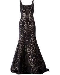 Oscar de la Renta Flared Evening Dress - Lyst