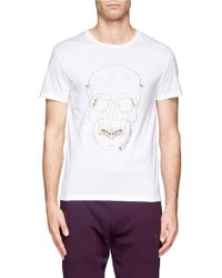 Alexander McQueen Zip Skull Jersey Tshirt - Lyst