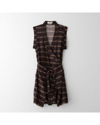 Etoile Isabel Marant Varna Sleeveless Check Dress - Lyst