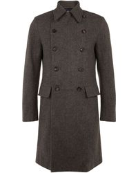 Aquascutum Underhill Double Breasted Coat - Lyst