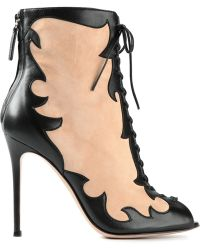 Gianvito Rossi Laceup Ankle Boots - Lyst