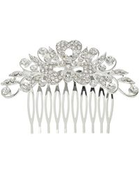 Mikey - Cubic Filligree Spread Hair Comb - Lyst